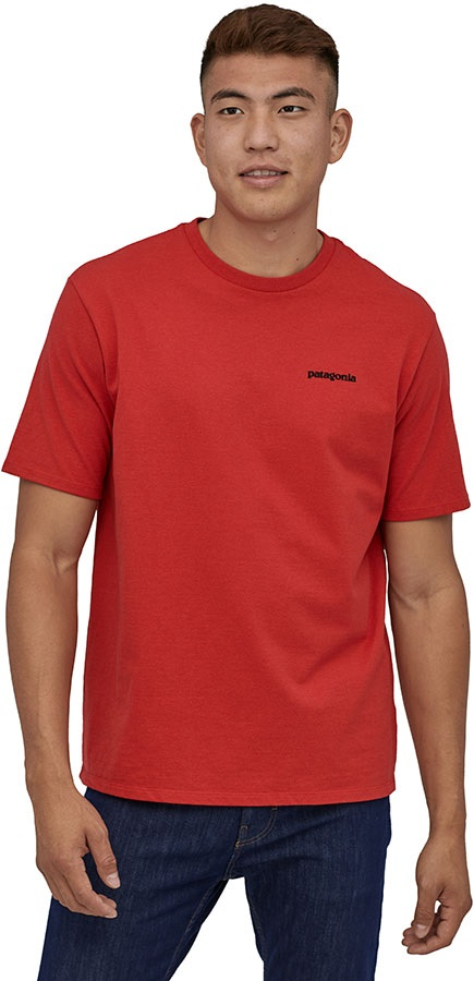 Patagonia P-6 Logo Responsibili-tee T-Shirt, S Fire Red