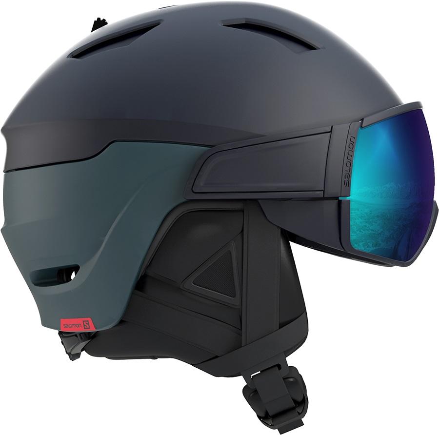 Salomon Driver Ex Display Ski/Snowboard Visor Helmet, L Blue/Moroccan