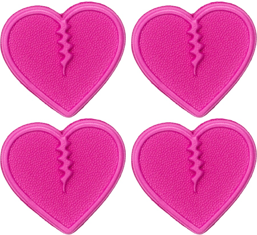 Crab Grab Mini Hearts Snowboard Stomp Pad, Pink