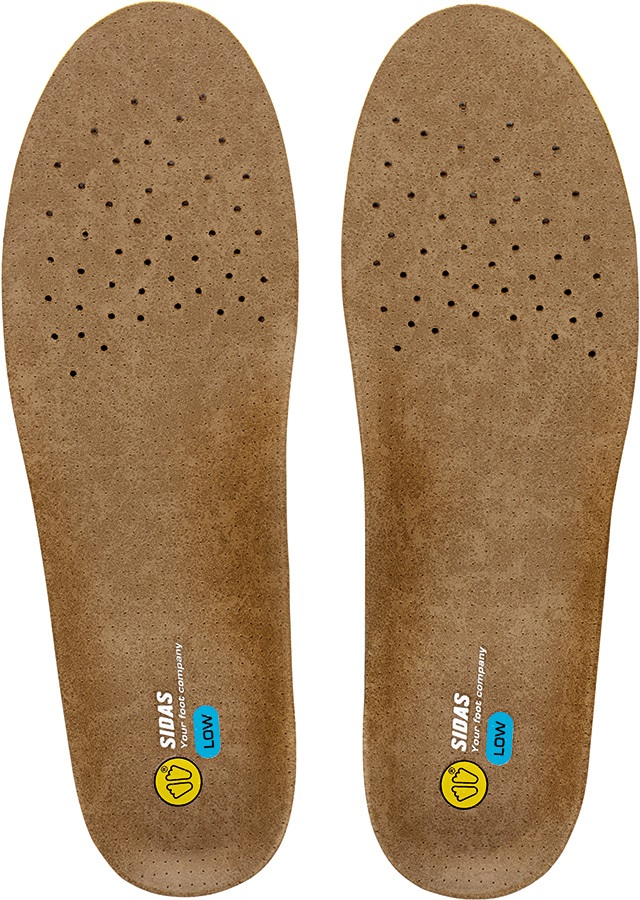 Sidas 3Feet Outdoor Low Hiking/Walking Insoles, M Brown/Blue