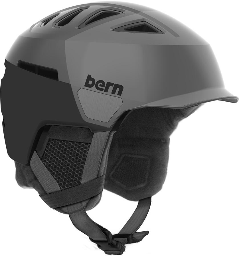 Bern Heist Brim Winter Snowboard Helmet, S Satin Grey