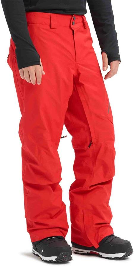 Burton [ak] 2L Cyclic Gore-Tex Ski/Snowboard Pants, L Flame Scarlet
