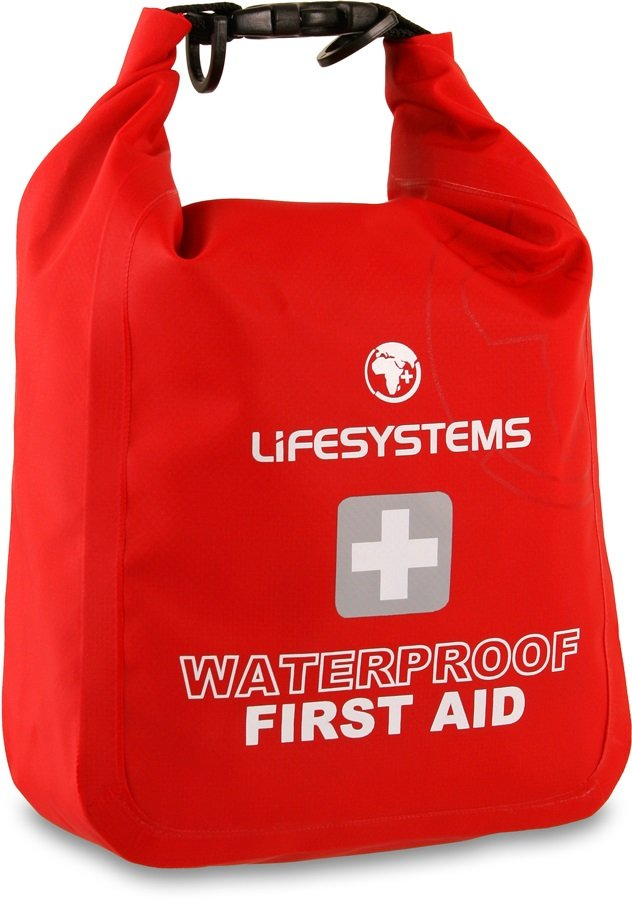 Lifesystems Waterproof Portable First Aid Kit 32 Items Red