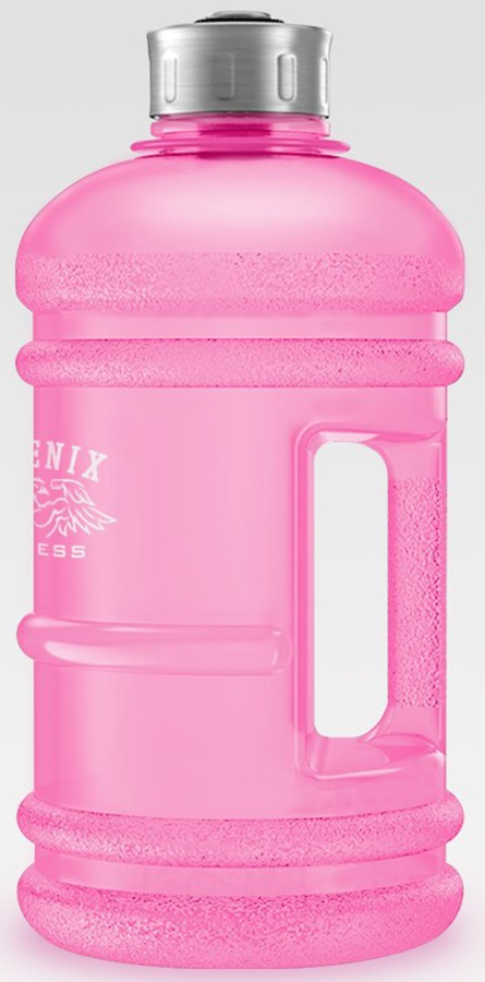 Phoenix Fitness Gym Hyrdation/Water Bottle, 2L Pink