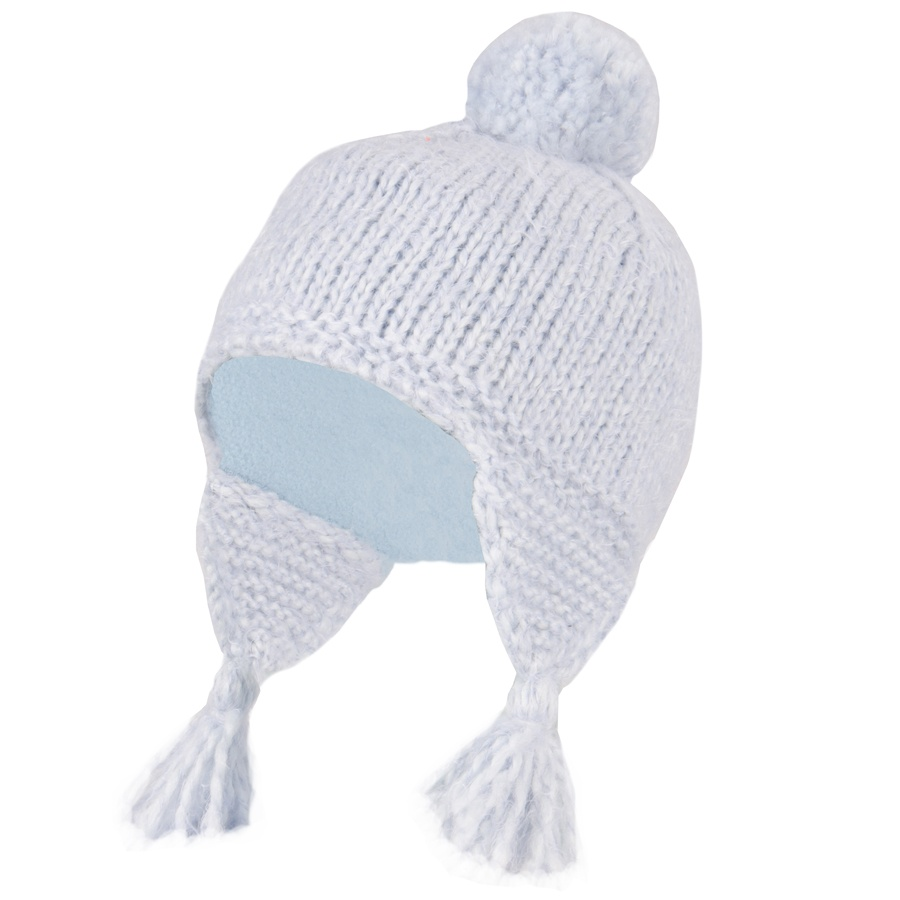 Manbi Women's Fluffy Salsa Ski/Snowboard Bobble Hat, 54-58cm Blue