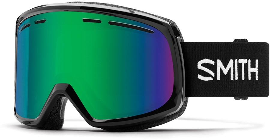 Smith Range Green Sol-X Snowboard/Ski Goggles, L Black