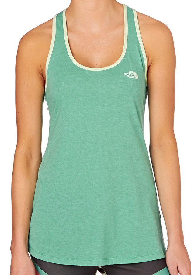 The North Face Womens Play Hard Tank Sport/Yoga Vest, UK14 Agate Green