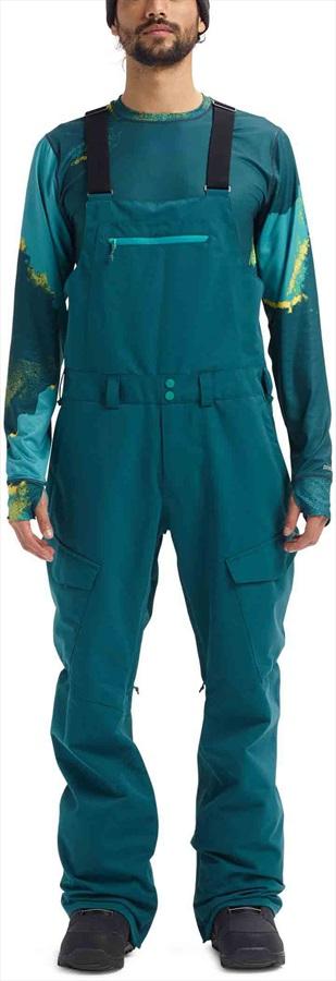 Burton Reserve Bib Ski/Snowboard Pants Trousers, M Deep Teal