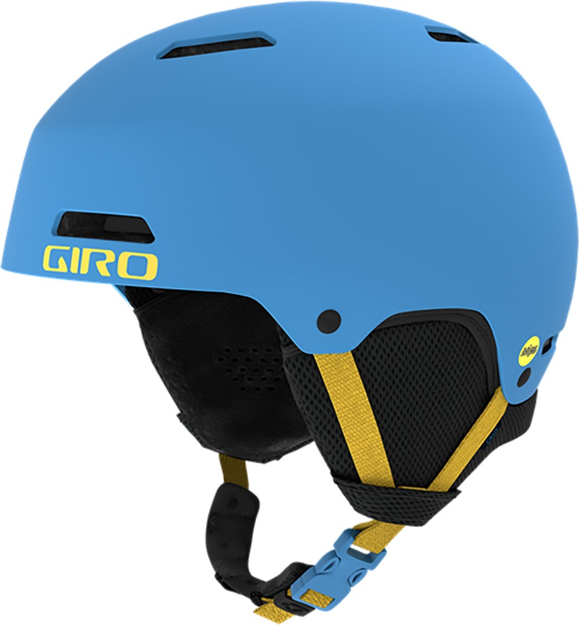 Giro Crue Kids Ski/Snowboard Helmet, XS Matte Blue/Yellow