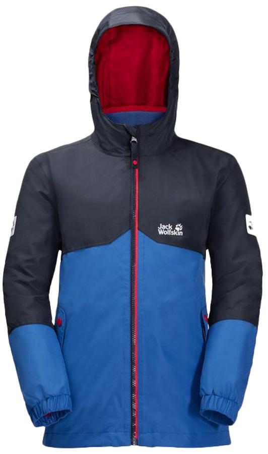 de96dcfc8 Jack Wolfskin Boy's Iceland 3 In 1 Jacket: 7 - 8 Yrs, Coastal Blue