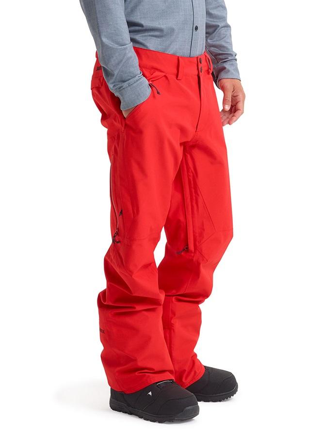 Burton Gore-Tex Vent Snowboard/Ski Pants, S Flame Scarlet