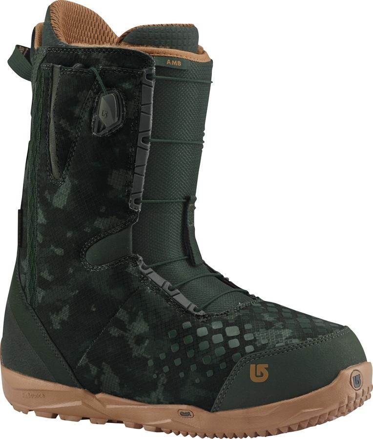 Burton AMB Men's Snowboard Boots, UK 6.5, Green/Camo, 2017