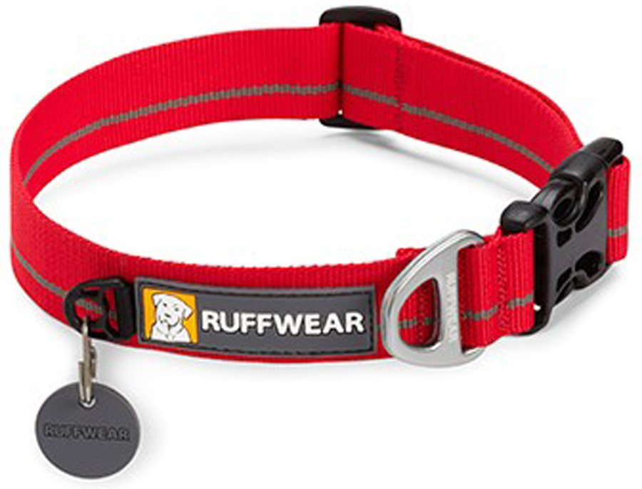 Ruffwear Hoopie Webbing Dog Collar M Red Currant