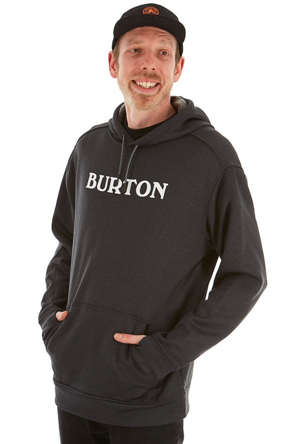 Burton Oak Pullover M Logo True Black Heather