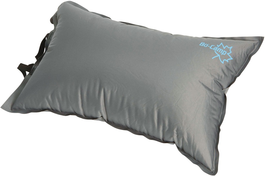 Bo-Camp Deluxe Pillow Self Inflating Camp Pillow, Large Grey