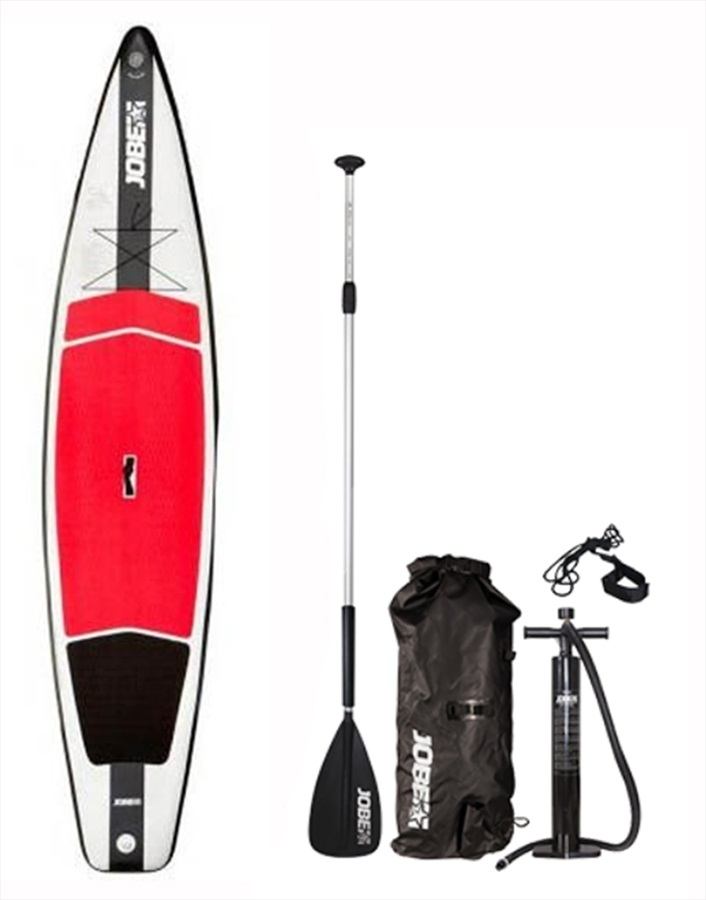 "Jobe Aero Race ISUP Paddleboard Package, 12'6"" Red White"