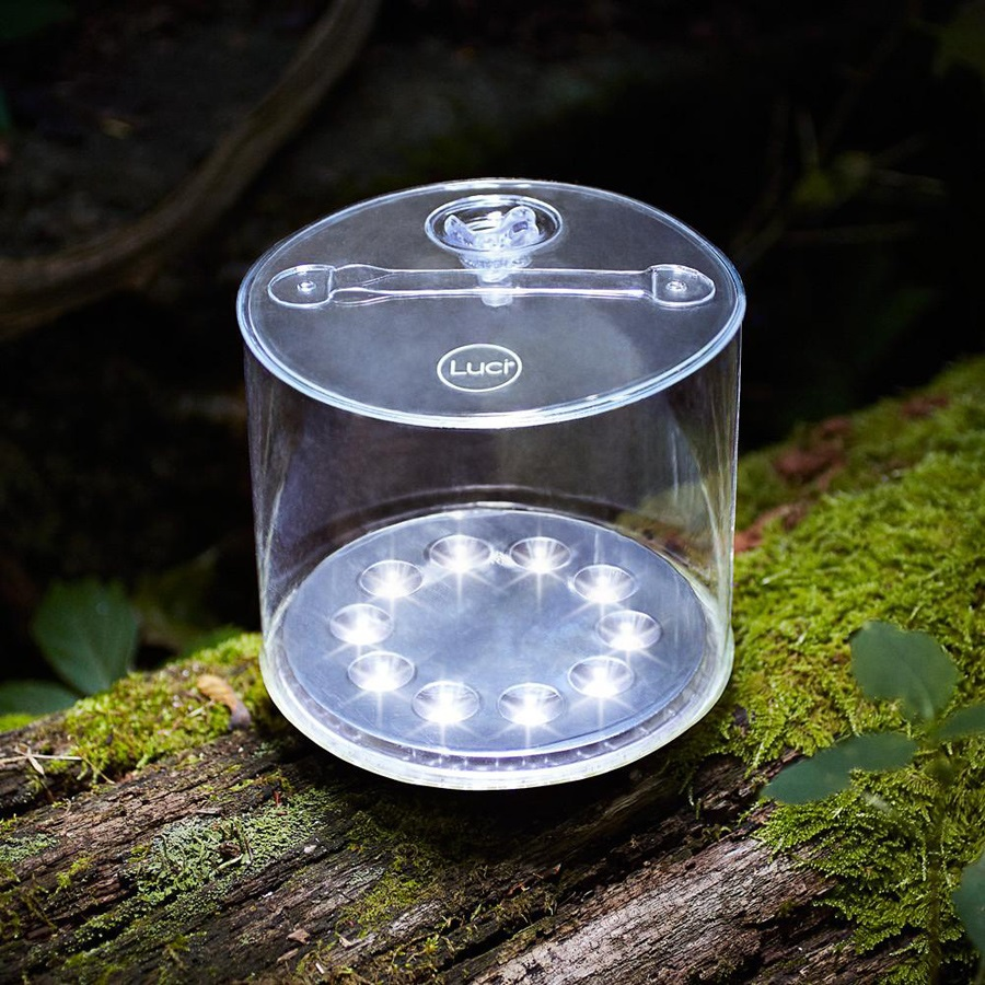 Mpowerd Luci Outdoor 2.0 Light Solar Powered Inflatable Lantern, Clear