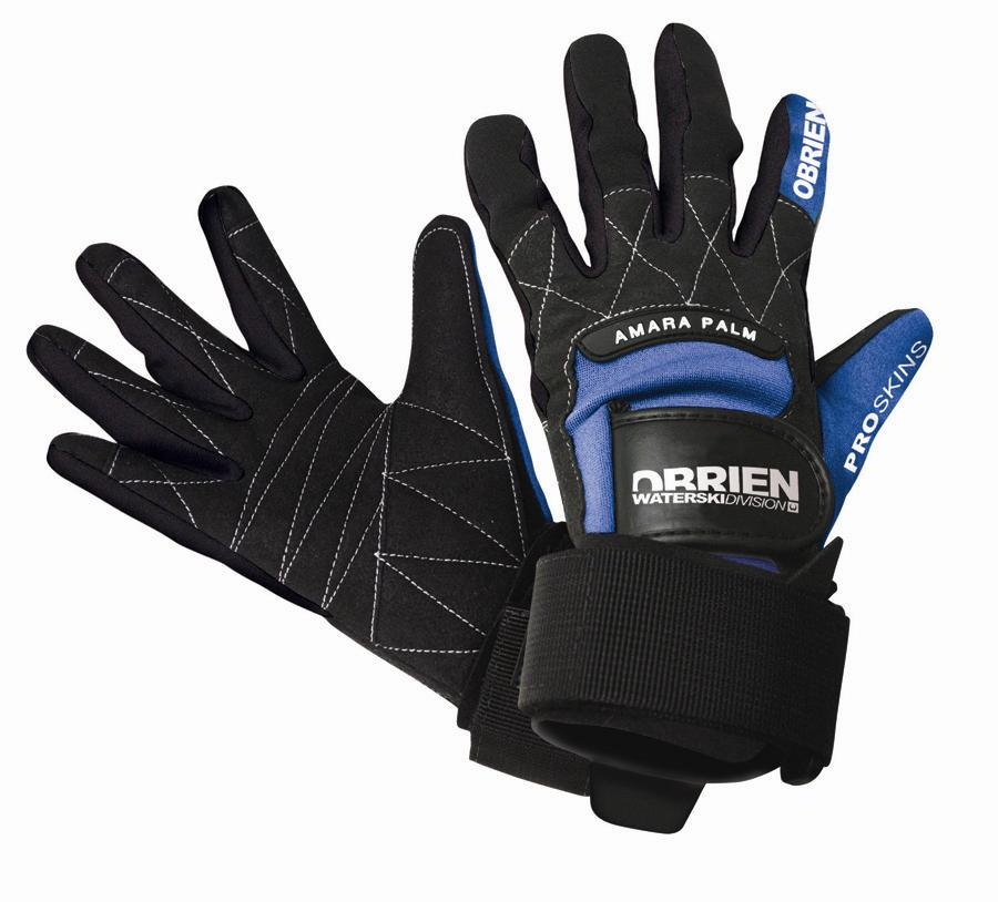 O'Brien Pro Skin Waterski Wakeboard Gloves XX Large - 11 Black Blue