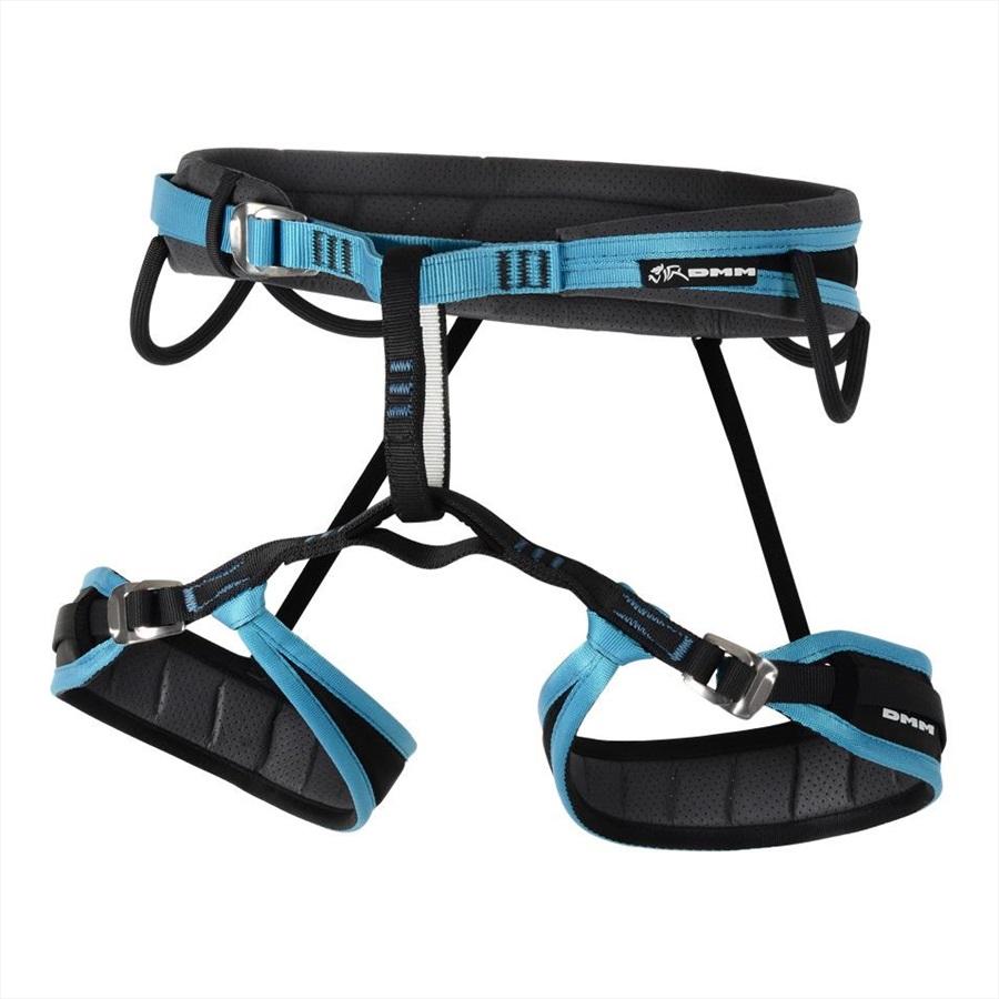 DMM Venture Women's Rock Climbing Harness, XS Blue/Black