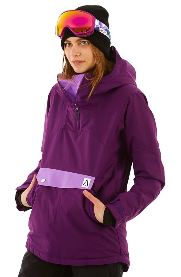 Wearcolour Homage Anorak Women's Snowboard/Ski Jacket, XS Grape