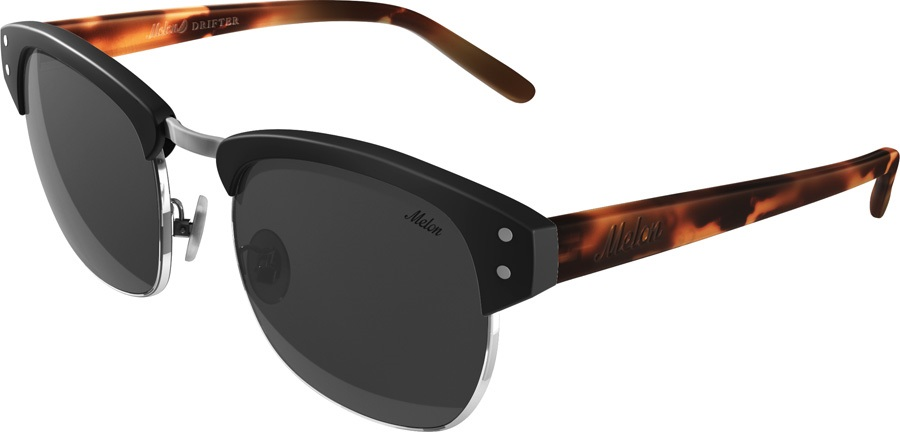 Melon Drifter Smoke Polarized Sunglasses, Matte Sable