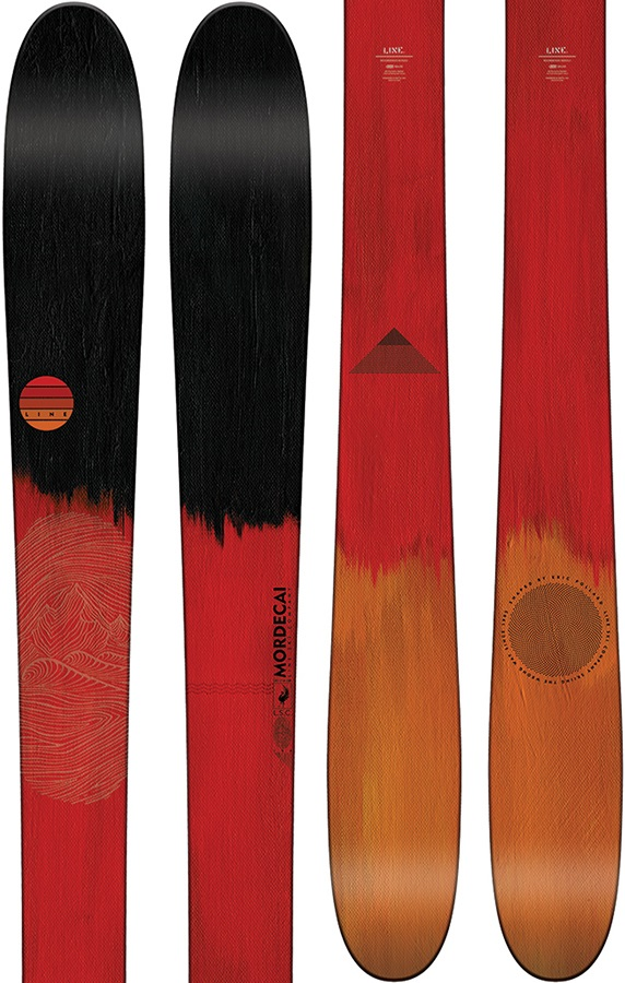 LINE Adult Unisex Mordecai Ski Only Skis, 179cm Black/Red 2018