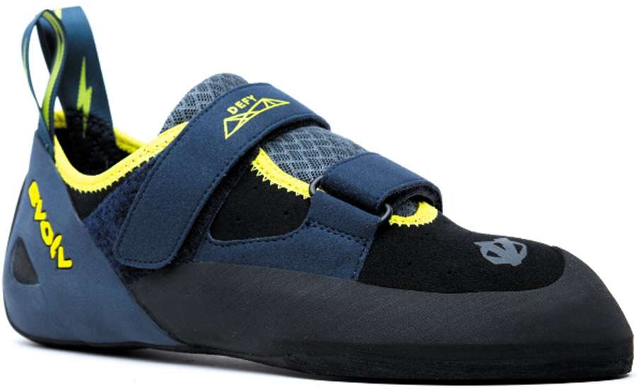 Evolv Defy VTR Rock Climbing Shoe, UK 9.5, EU 44 Black/Sulphur