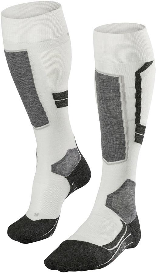 Falke SK4 Merino Wool Women's Ski Socks, UK 4-5 Offwhite