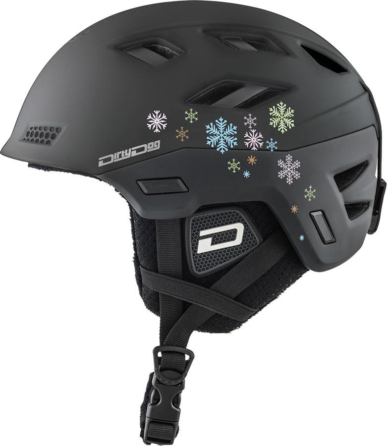 Dirty Dog Zodiak Snowboard/Ski Helmet, S Matte Black
