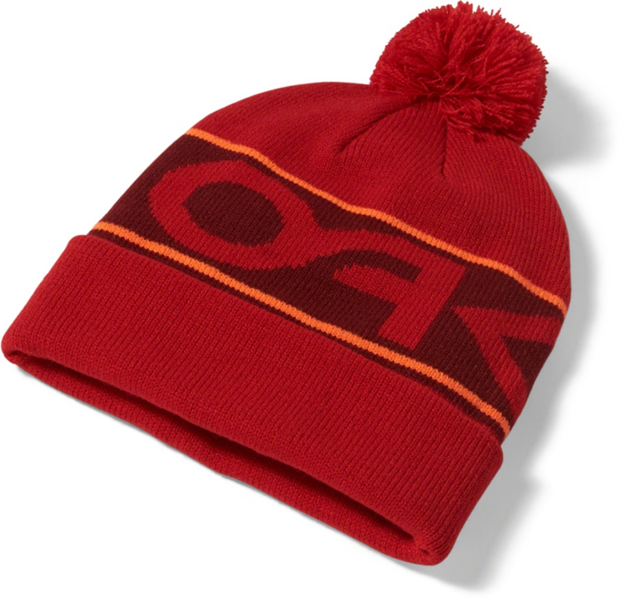 802a9700b Oakley Factory Cuff Snowboard/Ski Bobble Beanie Hat, One Size Red Line