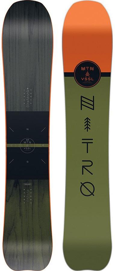 Nitro Mountain Positive Camber Snowboard, 157cm 2018