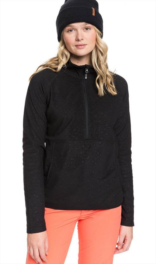 Roxy Cascade Women's Snowboard/Ski Fleece, L True Black Rising Peak