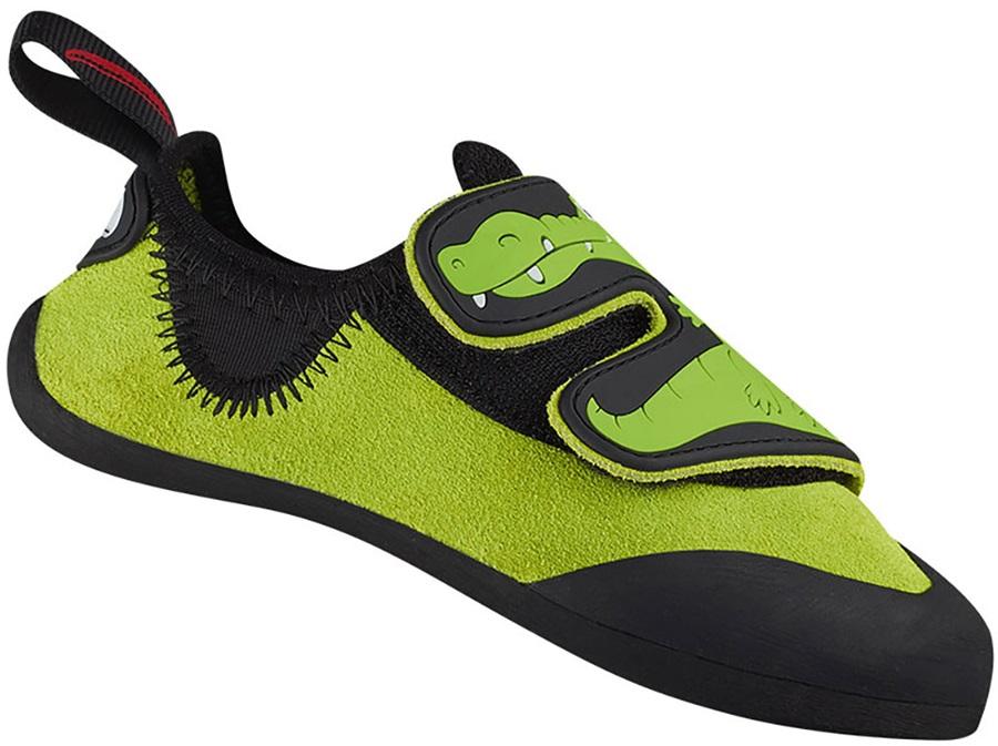 Red Chili Crocy II Kid's Rock Climbing Shoe, UK 1-1.5 Green/Oasis