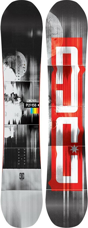 DC Ply Hybrid Camber Snowboard, 157cm Wide 2020