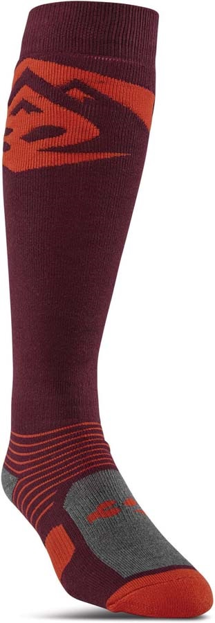 thirtytwo Adult Unisex Corp Snowboard/Ski Socks, S/M Burgandy