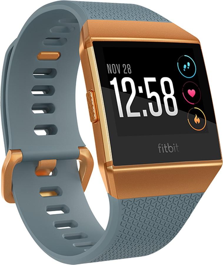 FitBit Ionic Heart Rate & Fitness Smartwatch, Slate Blue/Burnt Orange