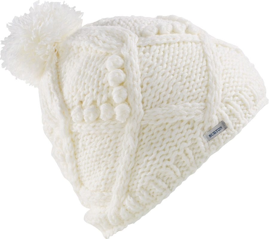 Burton Chloe Women's Ski/Snowboard Bobble Hat, One Size Stout White