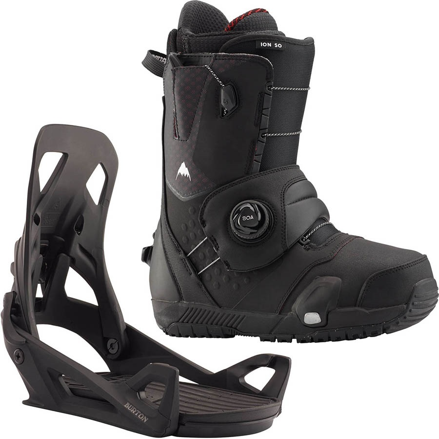 Burton Ion Step On Snowboard Binding & Boots, UK 7.5 Black 2020