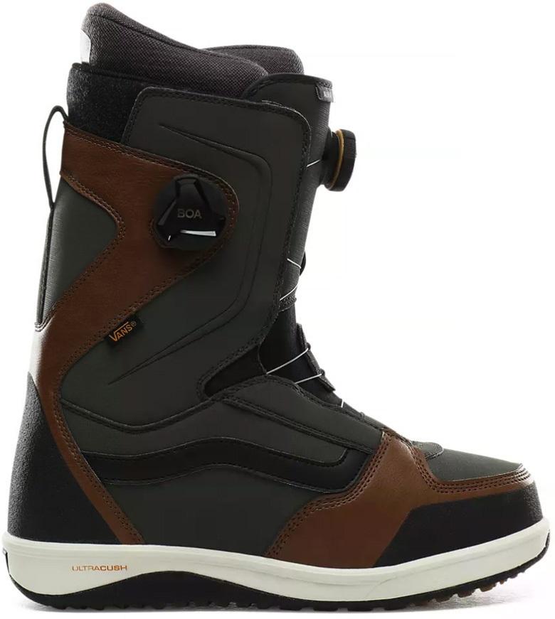 Vans Aura Pro Men's Snowboard Boots, UK 10 Green/Brown 2020