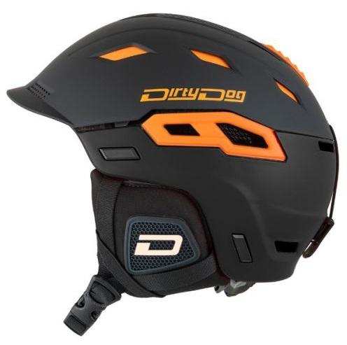 Dirty Dog Crater Snowboard/Ski Helmet, S Matte Black Orange