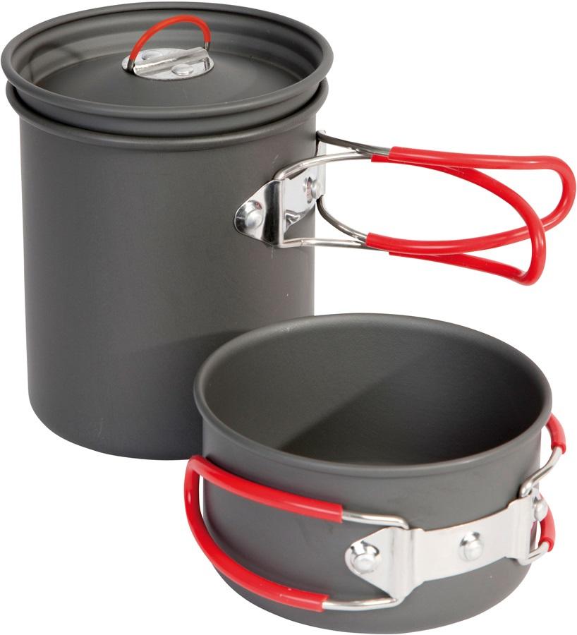 Bo-Camp Explorer Cookware Set Lightweight Backpacking Pots, 2 Pieces