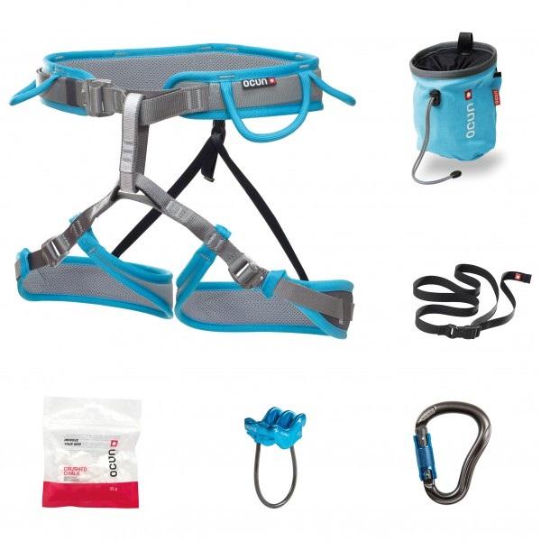 Ocun Twist Set Women's Rock Climbing Harness Set, M-XL Blue/Grey