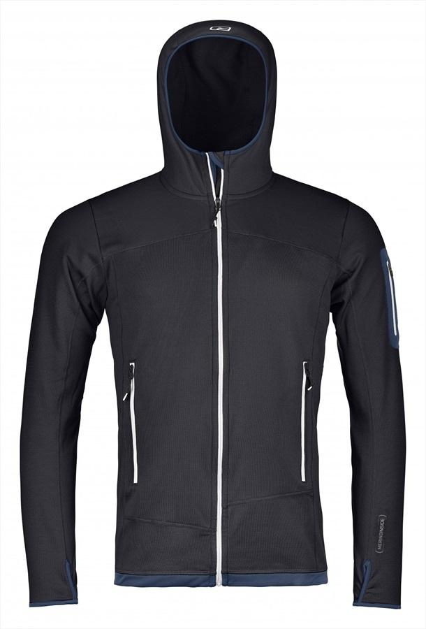 Ortovox Men's Merino (MI) Fleece Light Fullzip Hoody XL Black Raven
