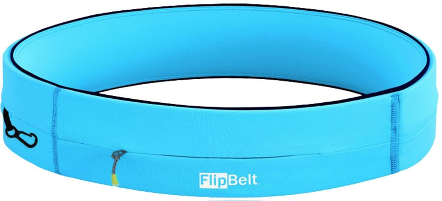 FlipBelt Zipper Running Belt, XL Aqua