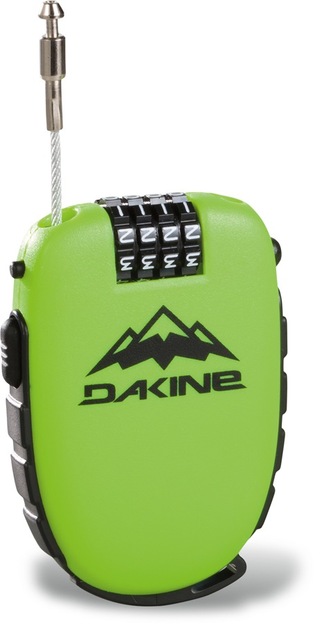 Dakine Cool Lock Snowboard Cable Security Lock, Green