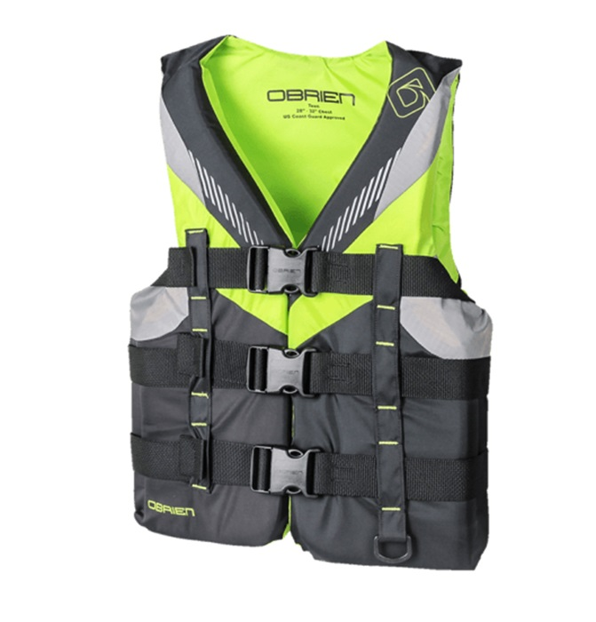 O'Brien Teen | Youth Nylon Watersports Life Jacket, Teen Lime