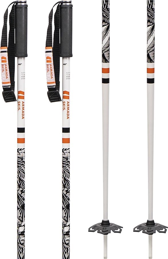 Armada Legion Pair Of Ski Poles, 115cm Black/White/Orange