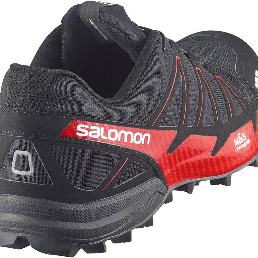 pretty nice f7dd6 503ce Salomon Men's S-lab Fellcross 2 Trail Running Shoe, UK 7, Black/Red