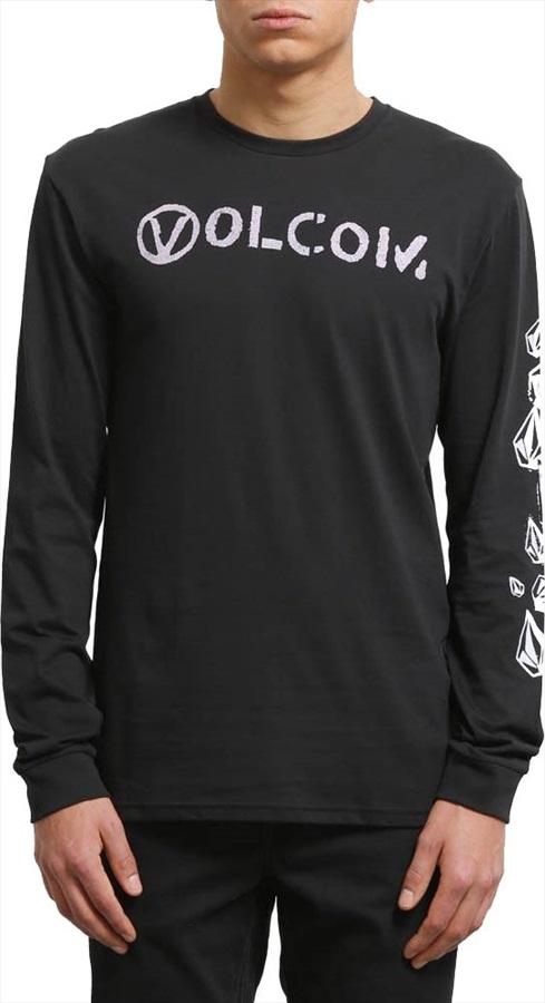 Volcom Stone Spew Basic Long Sleeve T-Shirt, S Black