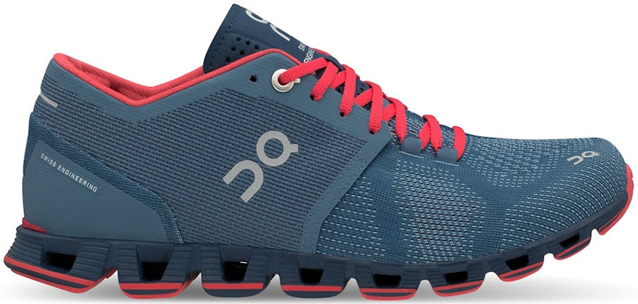 online store 8b4e0 2034f On Cloud X Women's Running Shoes, UK 4 Lake/Coral